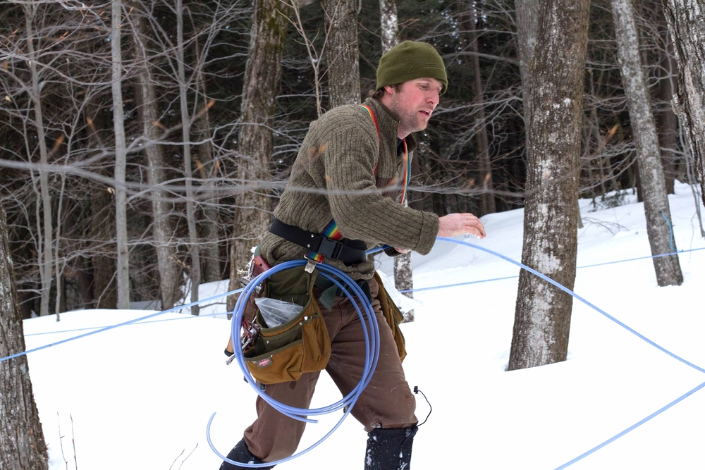 Eric Works the Sap Lines